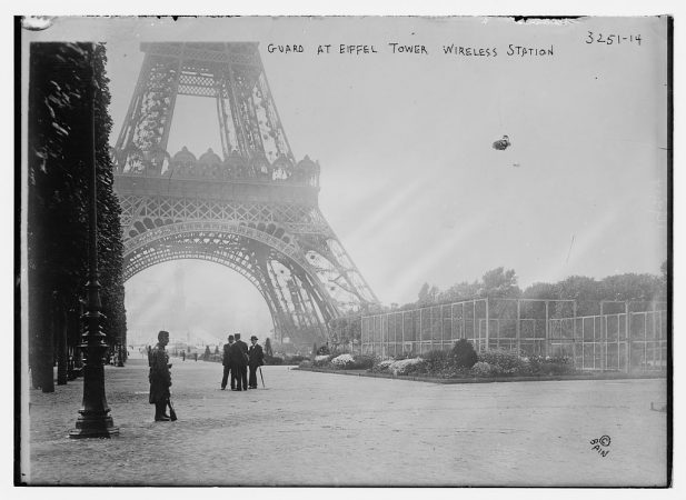 soldiers guarding Eiffel Tower