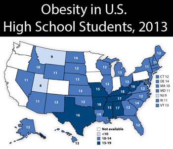 obesity US high schools 2013