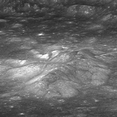 This image is of the central peaks inside Bullialdus crater. Sensors viewing the peaks in wavelengths of light invisible to the naked eye detected increased concentrations of hydroxyl. This suggests that rocks on the peaks might contain small amounts of water. Credit: Klima et al. 2013, Nature Geoscience