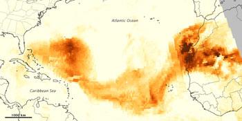 dust plume Sahara
