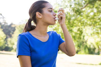 girl inhaler