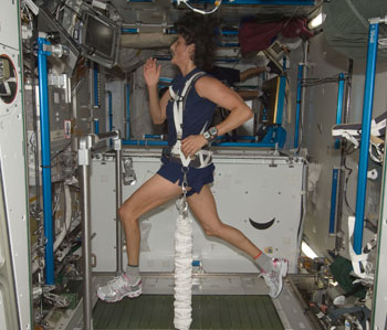 running in space