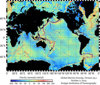 marine gravity map
