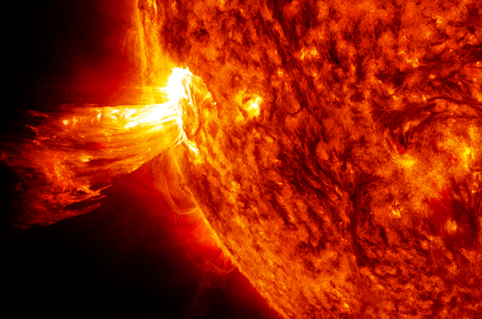 an image of a coronal mass ejection from the sun
