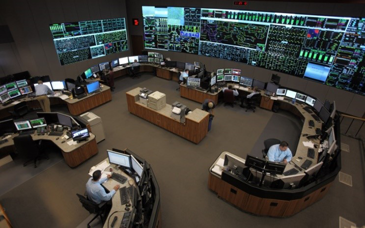 a photo of the inside of a control room