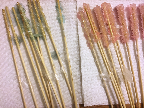 finished rock candy
