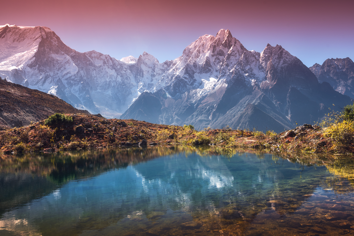 a photo of the Himalayan mountains