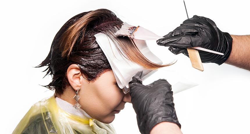 използване на боя за коса