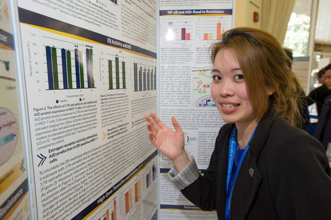 Jennifer Chan, 18, was inspired to study cancer by the death of her father and others close to her. Her discovery may help boost the efficiency of a drug used to treat breast cancer. Credit: Chris Ayers Photography/SSP