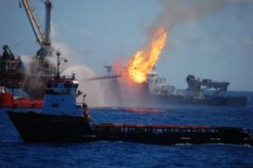 Last April, the BP drilling platform Deepwater Horizon exploded, killing 11 people and starting a massive underwater oil spill.