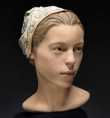 Artists and scientists worked together to create this sculpture that shows what Jane, a colonial American, might have looked like. A study of the teen's remains indicates she was cannibalized after she died. Credit: StudioEIS, Don Hurlbert/Smithsonian