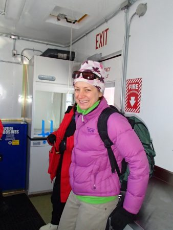 Jill Mikucki offered a tour of the mobile biology lab that scientists are now using to study samples from Lake Whillans. These samples might point to microbial life far beneath Antarctica's ice. Credit: J. Raloff/Science News for Kids