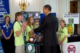 Obama learns about a device that can help people be safer drivers.