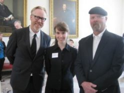 "DeBenedictis also got a picture with ""MythBusters"" Jamie Hyneman and Adam Savage."