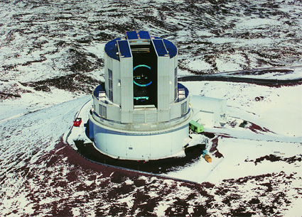 The Subaru telescope in Hawaii.