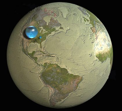 water map, Earth
