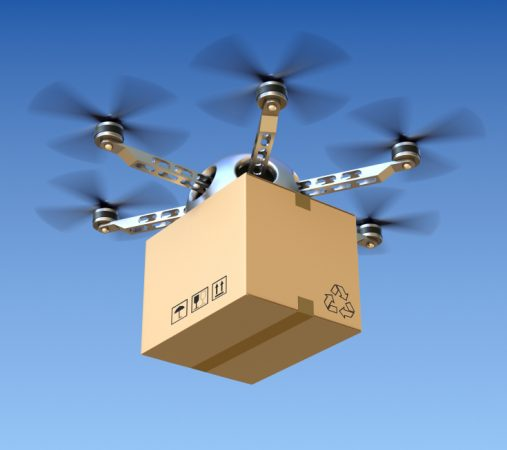 drones deliver package