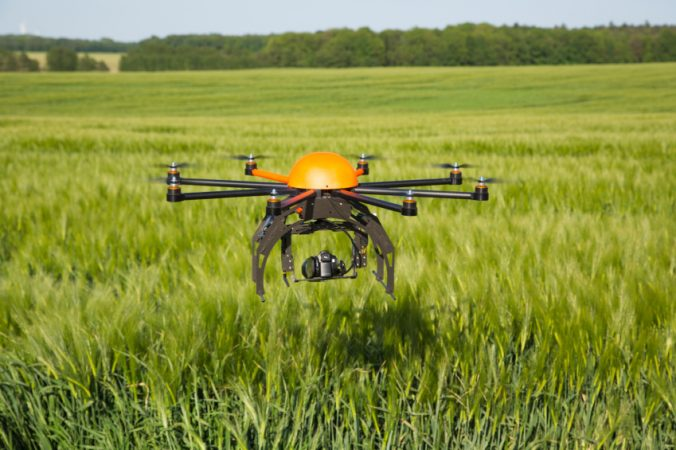 drone for surveying crops
