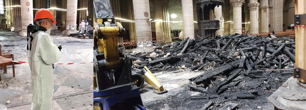 Notre Dame fire damage
