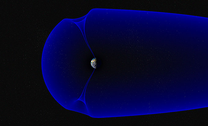 illustration of the magnetosphere