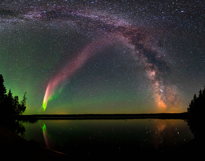 unusual light show in the night sky called STEVE
