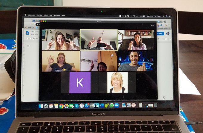 a sreenshot of a faculty meeting online
