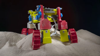 Wiggly wheels might help rovers plow through loose lunar soils