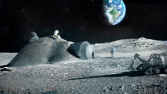 Astronauts may be able to make cement with their own pee