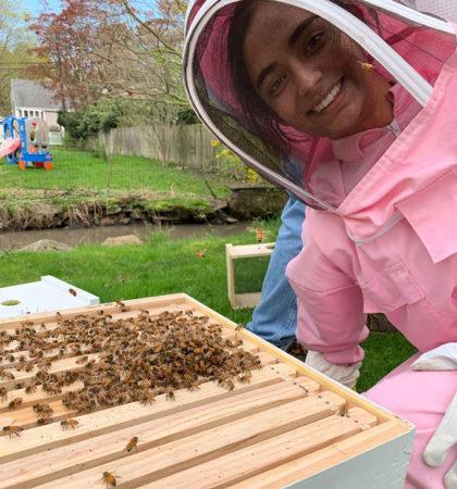 Raina Jain and her bees