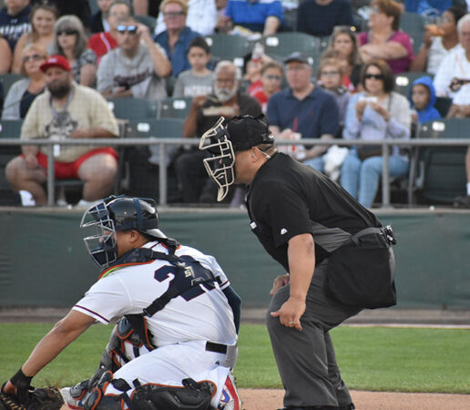 a photo of umpire Fred DeJesus