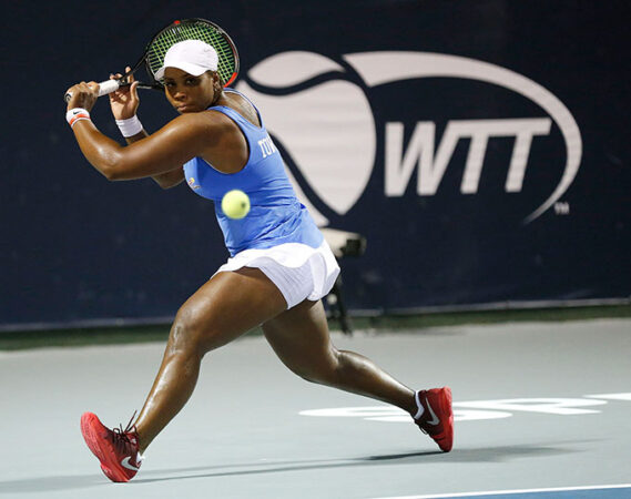 Taylor Townsend playing tennis