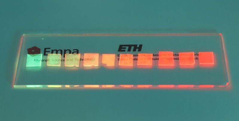 various dyes luminescing
