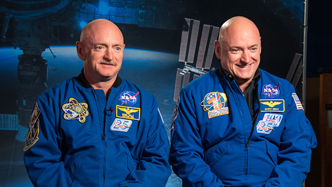 a photo of Mark and Scott Kelly