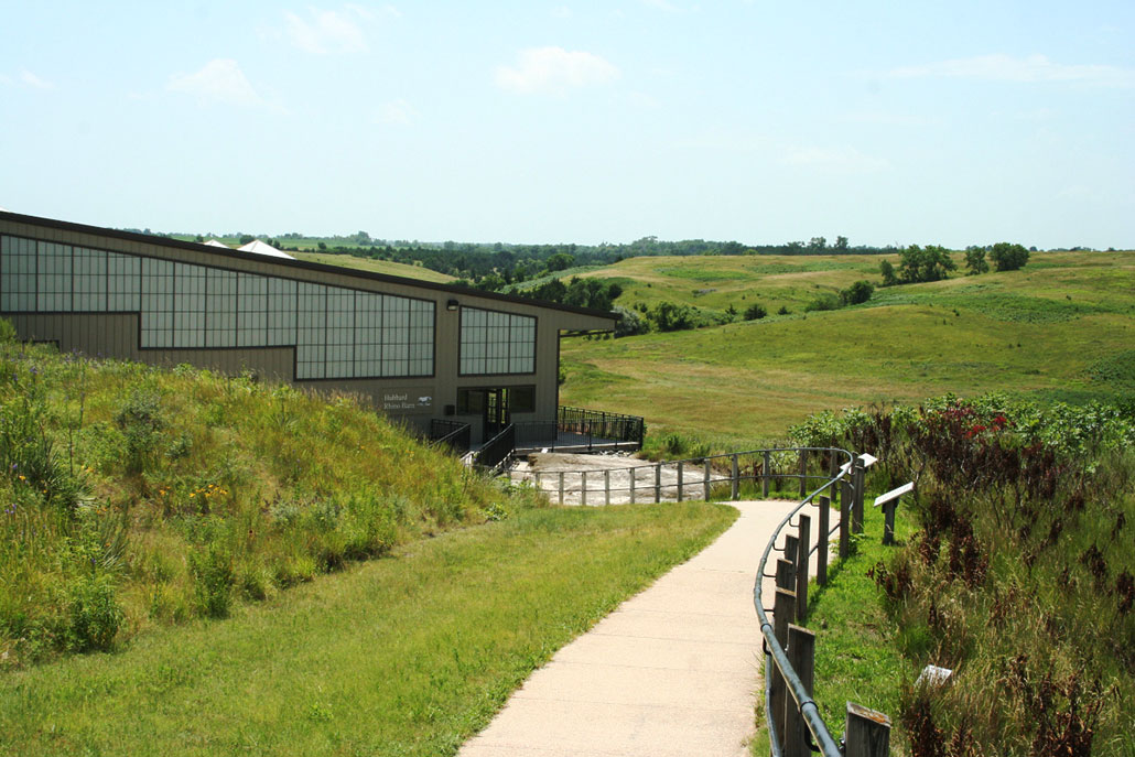 a photo of the outside of the Hubbard Rhino Barn