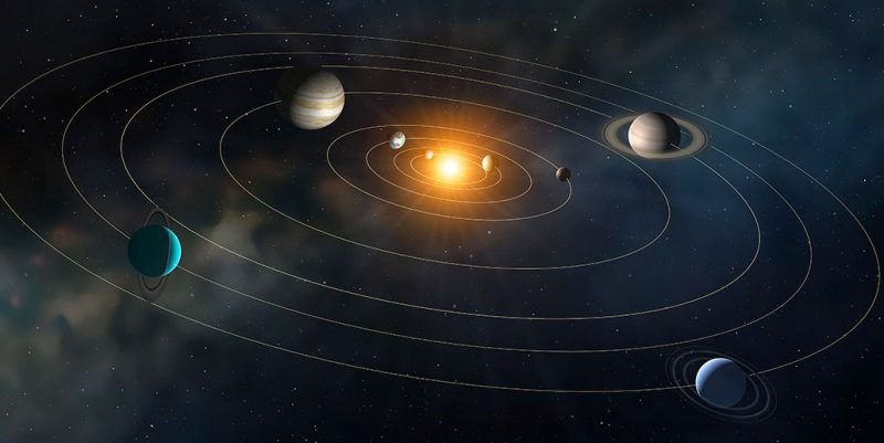 a diagram of the solar system